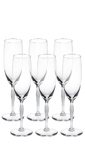 Champagnerflute, 6er Set, 100 Points